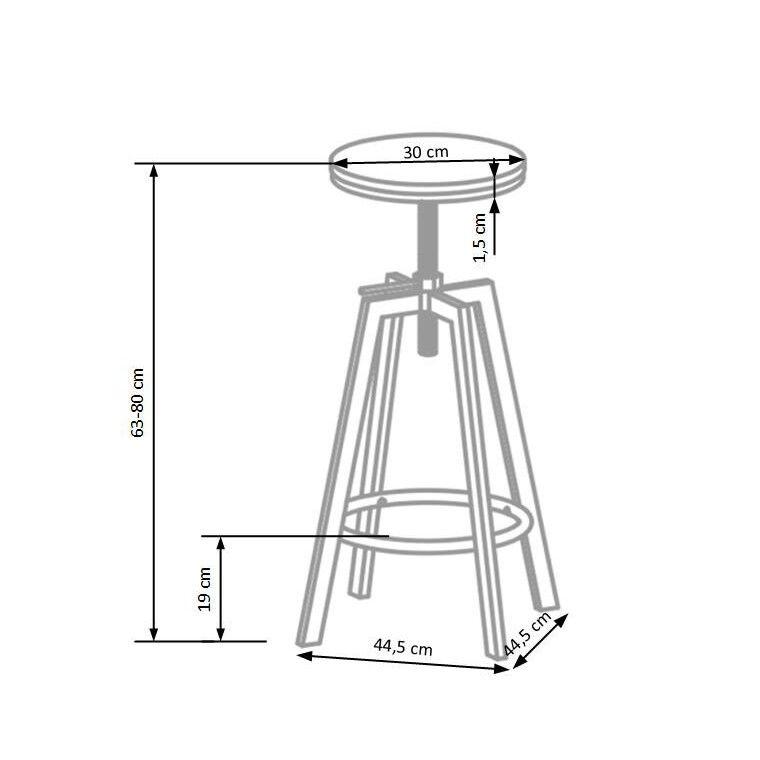 Стул барный Halmar H-64 | Кофе / черный - 2