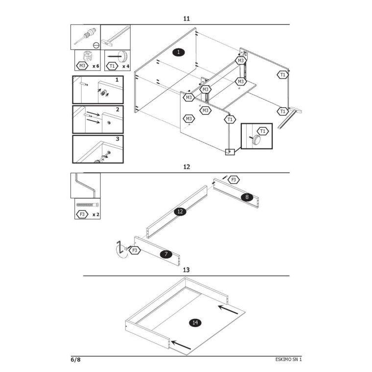 Стол письменный Halmar Eskimo B-1 | Белый - 7