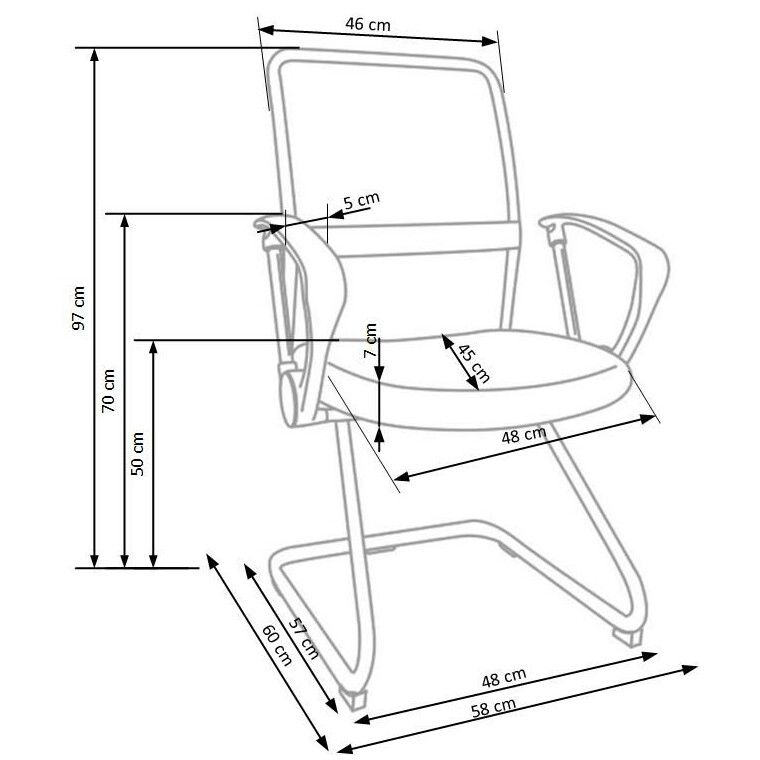 Кресло офисное Halmar Vire Skid    Черный - 2