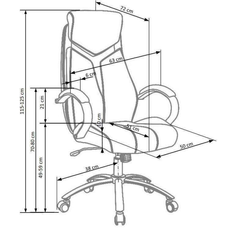 Кресло поворотное Halmar Nixon | Черный / серый - 3