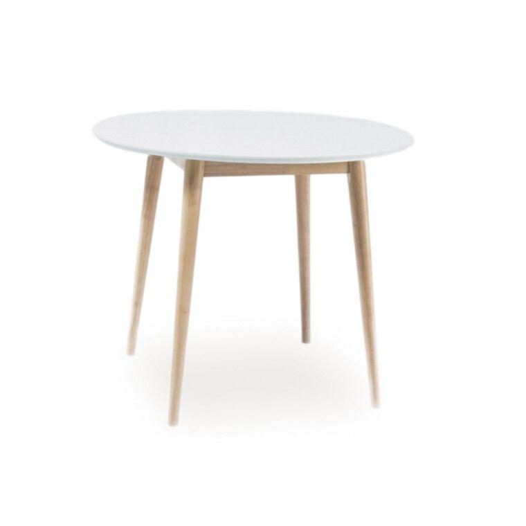 Стол обеденный Signal Larson   90х90 / Белый / дуб
