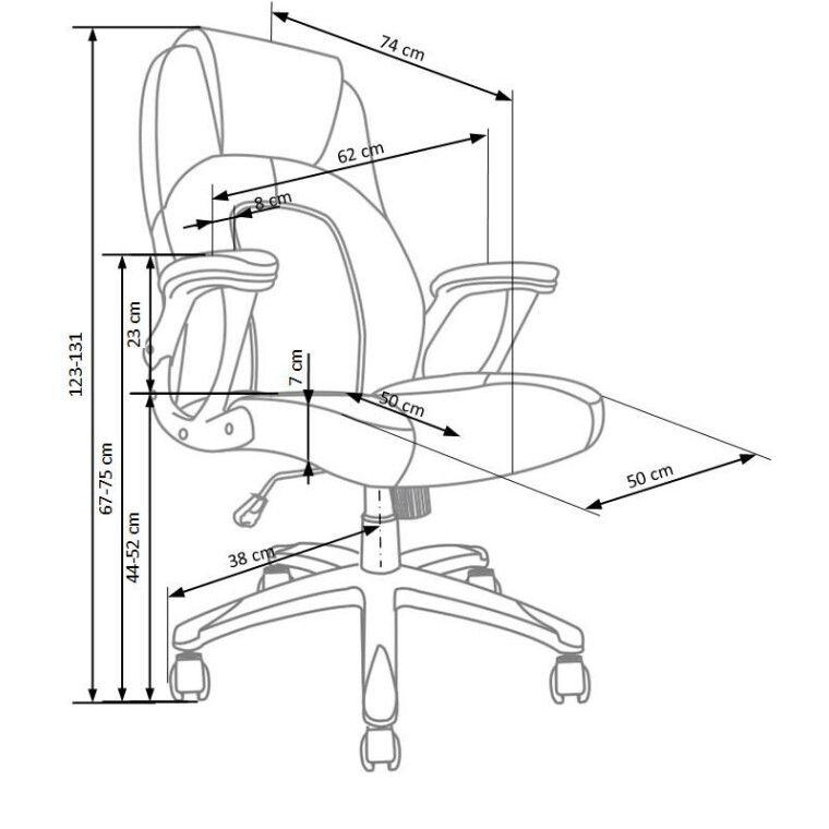 Кресло поворотное Halmar Viper    Оранжевый / Черный - 3