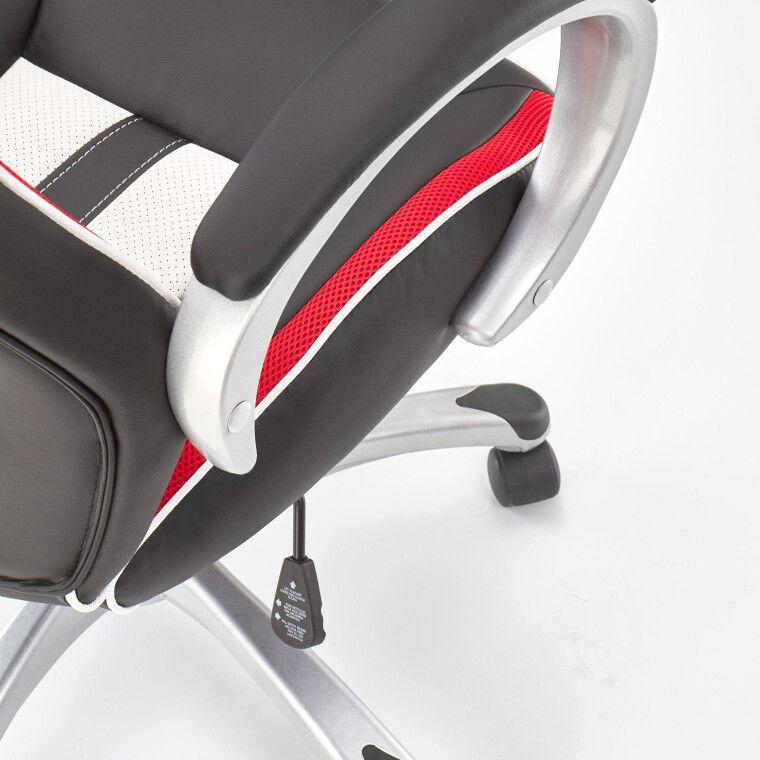 Кресло поворотное Halmar Roadster  | Черный / Красный / Белый фото - 7