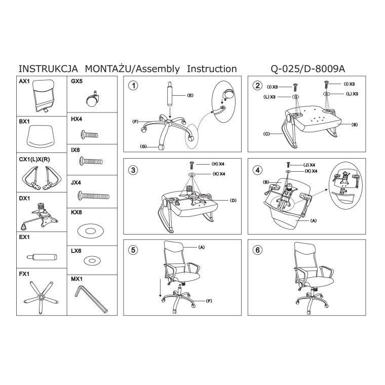Кресло поворотное Signal Q-025 | Черный / красный - 2