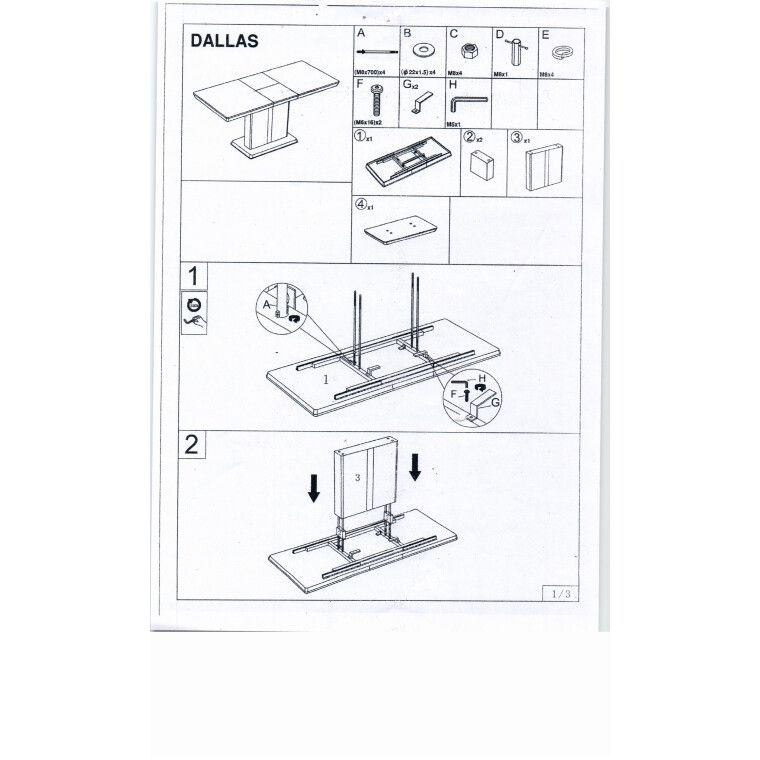Стол обеденный Signal Dallas | Белый - 5